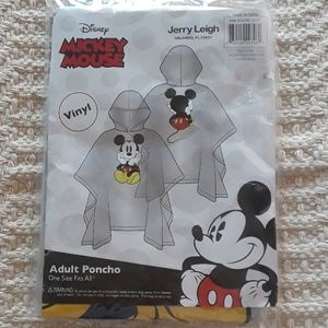 NWOT Disney Mickey Mouse Adult Vinyl Poncho